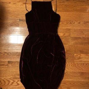 🍁 Sale Reformation Burgundy Velvet Topanga Dress
